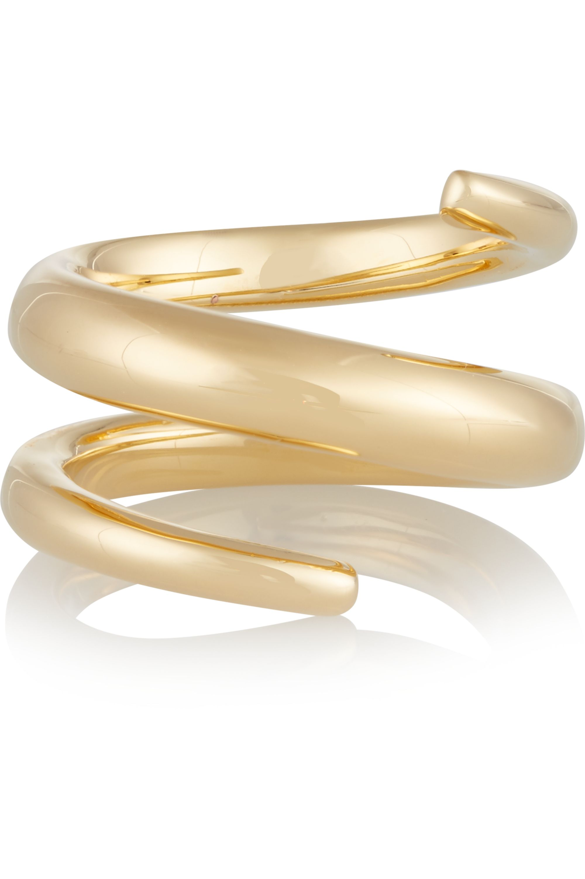Jennifer Fisher Twisted Cylinder gold-plated ring