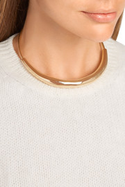 Large Cylinder gold-plated choker
