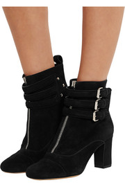 Nash buckled suede ankle boots