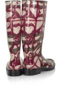 BurberryHeart-print Wellington boots