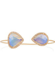 18-karat rose gold, opal and diamond cuff