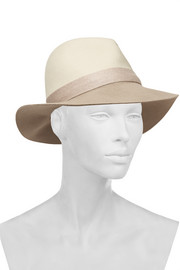 Two-tone wool-felt fedora