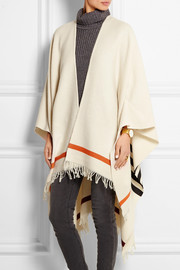 Ines striped wool-blend wrap