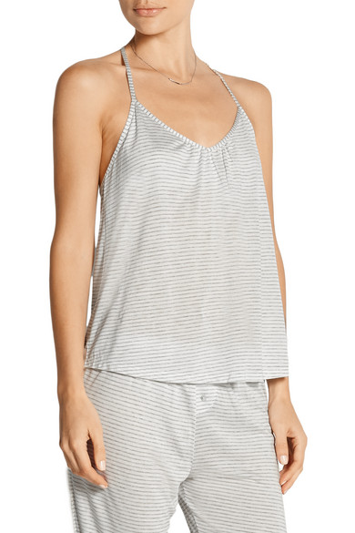 Love Letters striped modal-blend jersey pajama top
