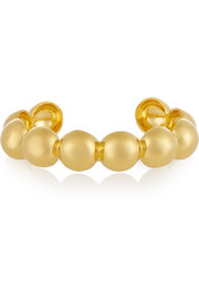 Large Sphere gold-plated cuff