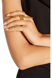Triple Ariane gold-plated ring