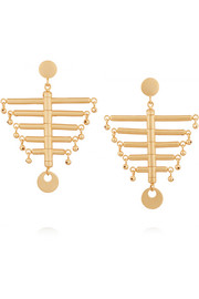 The Little Backbone gold-plated earrings