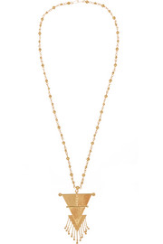 Hanging Triangle gold-plated necklace