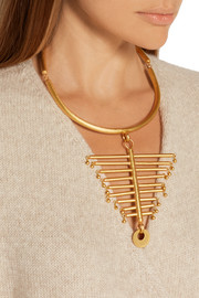 The Backbone gold-plated necklace
