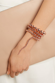 Nereus rose gold-plated bracelet