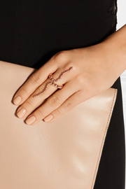 Adriane rose gold-plated ring
