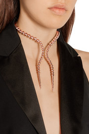 Glaucus rose-gold plated choker