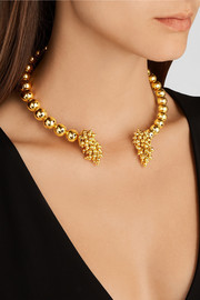 Paula Mendoza One Round Ball gold-plated choker
