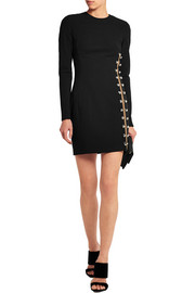 Embellished stretch-jersey mini dress