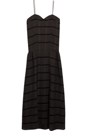 Bradford striped wool-blend dress