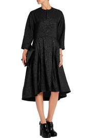 Effie oversized cotton-blend matelassé dress
