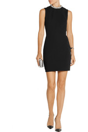 Victoria Beckham Crystal-embellished crepe mini dress