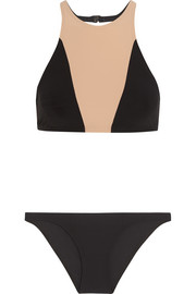 Shay cutout two-tone bikini