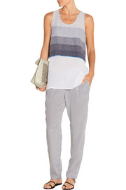Debizaza striped cotton and wool-blend top
