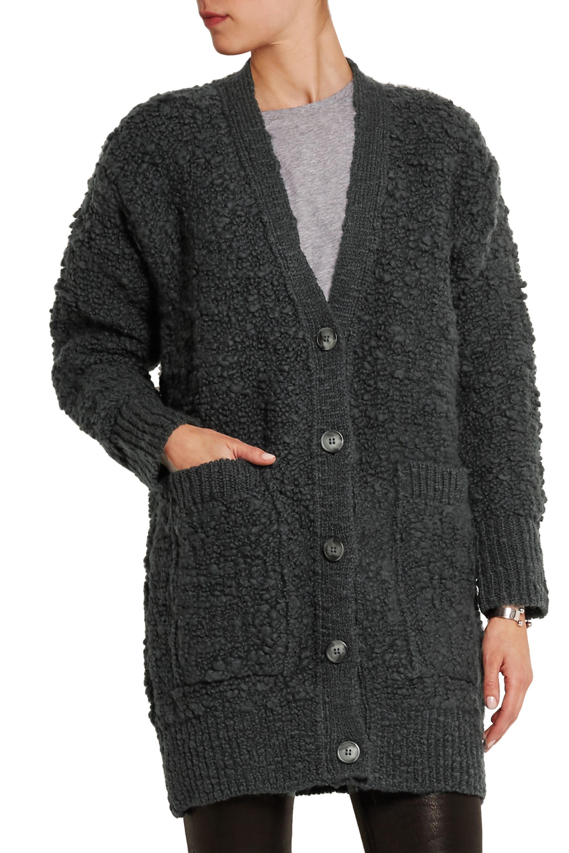 MM6 Maison Margiela Wool-bouclé cardigan