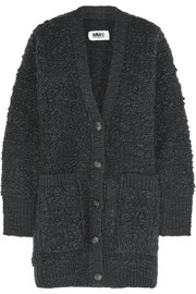 Wool-boucl� cardigan