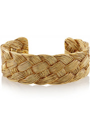 Braided gold-plated cuff