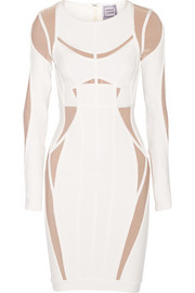 Hervé Léger Angelique two-tone bandage dress
