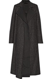 Flecked wool coat