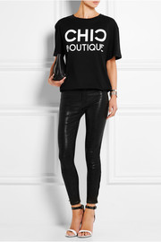 8001 leather skinny pants