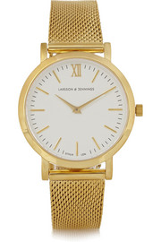Larsson & Jennings Liten small gold-plated watch