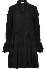 Ruffled silk dress
