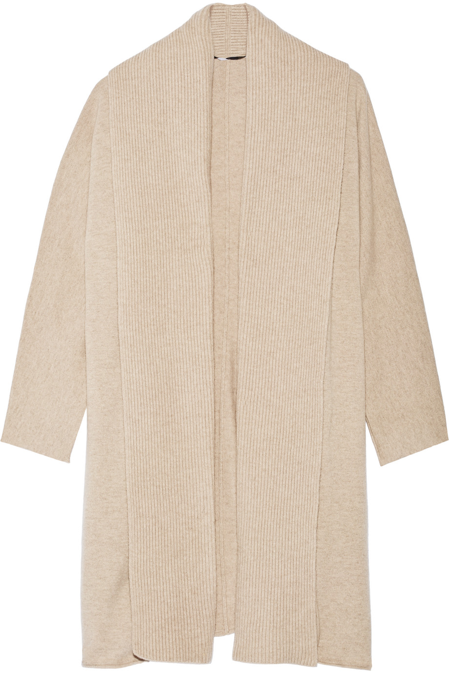 Rosetta Getty Wool and Cashmere-Blend Cardigan, Beige, Women's, Size: S