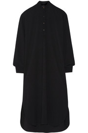 Oversized twill midi shirt dress