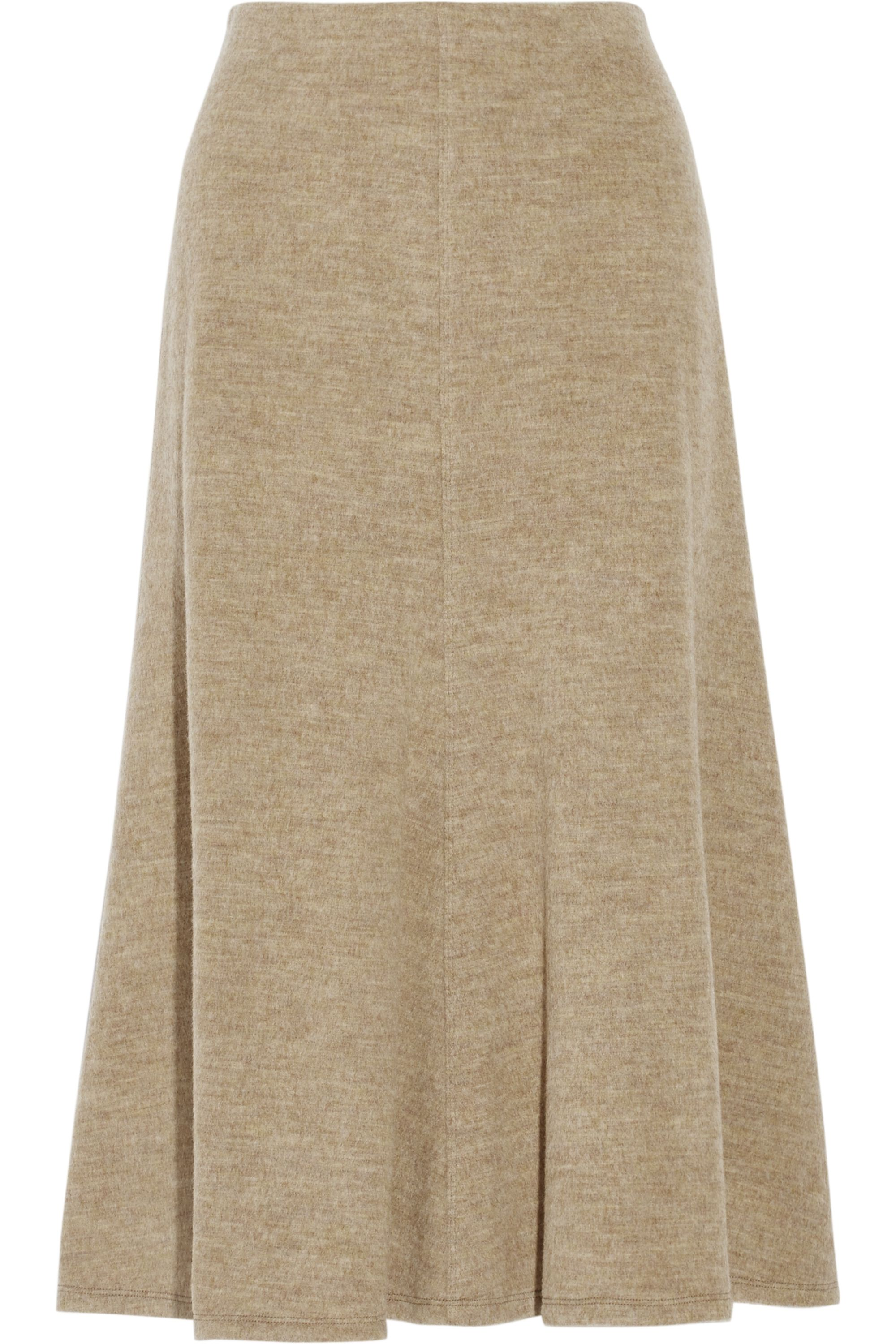 Rosetta Getty Melton wool midi skirt