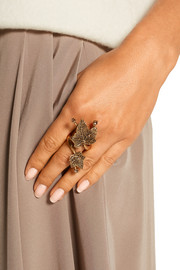 Ivy gold-plated crystal ring