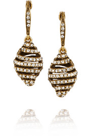 Gold-plated crystal earrings