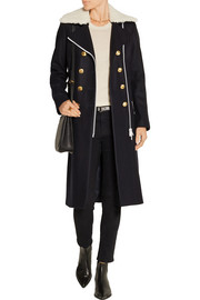 Sullivan double-breasted wool-blend coat