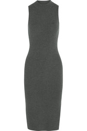 Alanna ribbed wool-blend midi dress
