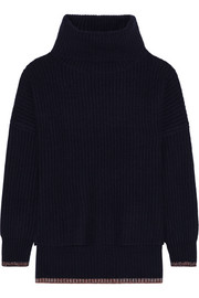 Sarah ribbed cashmere and wool-blend turtleneck sweater