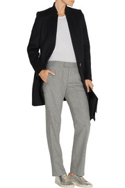 Winnie wool-blend flannel straight-leg pants