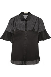 Cotton-organza shirt
