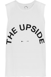Muscle printed cotton-jersey tank