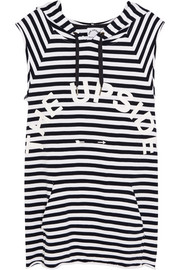 The Striped Recovery cotton-terry hooded top