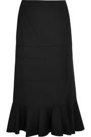 Faulk stretch-wool midi skirt