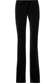 Whitney cotton-velvet flared pants