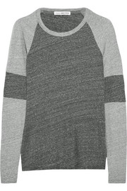 Two-tone cotton-jersey top