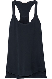 Racer-back cotton-jersey pajama top