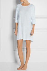Waffle-knit cotton nightdress