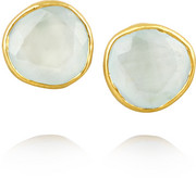 18-karat gold aquamarine earrings