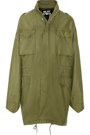 Desert M65 oversized hooded cotton jacket
